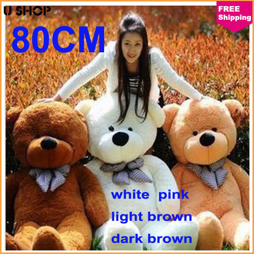 large big teddy bear for sale giant 80cm life size teddy bears doll plush toys valentines. Black Bedroom Furniture Sets. Home Design Ideas