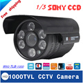 Free shipping 2016 NEW 1 3 SONY CCD HD 1000TVL Waterproof Outdoor security camera IR 100