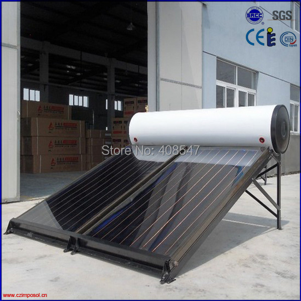 high pressure black chrome flat panel solar water heater(China (Mainland))