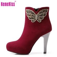 Media del tobillo envío libre corto de cuero genuino verdadero natrual botas de tacón alto de las mujeres de arranque nieve R4997 EUR tamaño 34-39(China (Mainland))