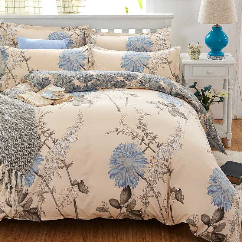 High Quality Promotion Sale CVC Bed set/Bedding sets Duvet Cover Flat Sheets Pillowcase(China (Mainland))