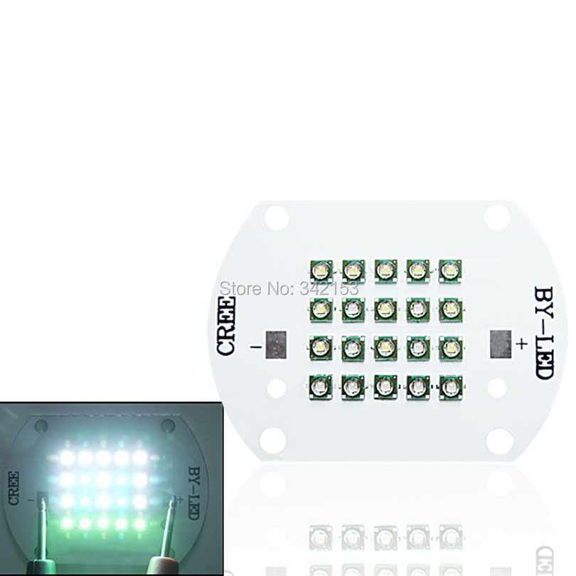DC 30-31V 60W Cree XP-E Led Bulb Green (5pcs) + Blue (4pcs) + White (11pcs) Mix Color Multichip LED Plant Grow Light DIY Emitter(China (Mainland))