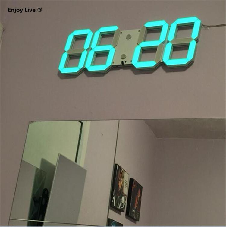 DIY Large Display Remote 3D LED Digital Wall Clock Timer ...