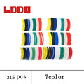 LDDQ 315pcs Heat shrink tubing 2 1 Heat Shrink Tube Wrap Heat sleeving 1mm 1 5mm