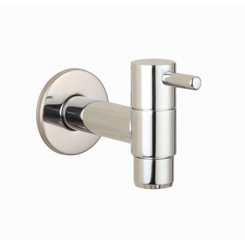 chrome laundry bathroom wetroom faucet wall mount cold water faucet