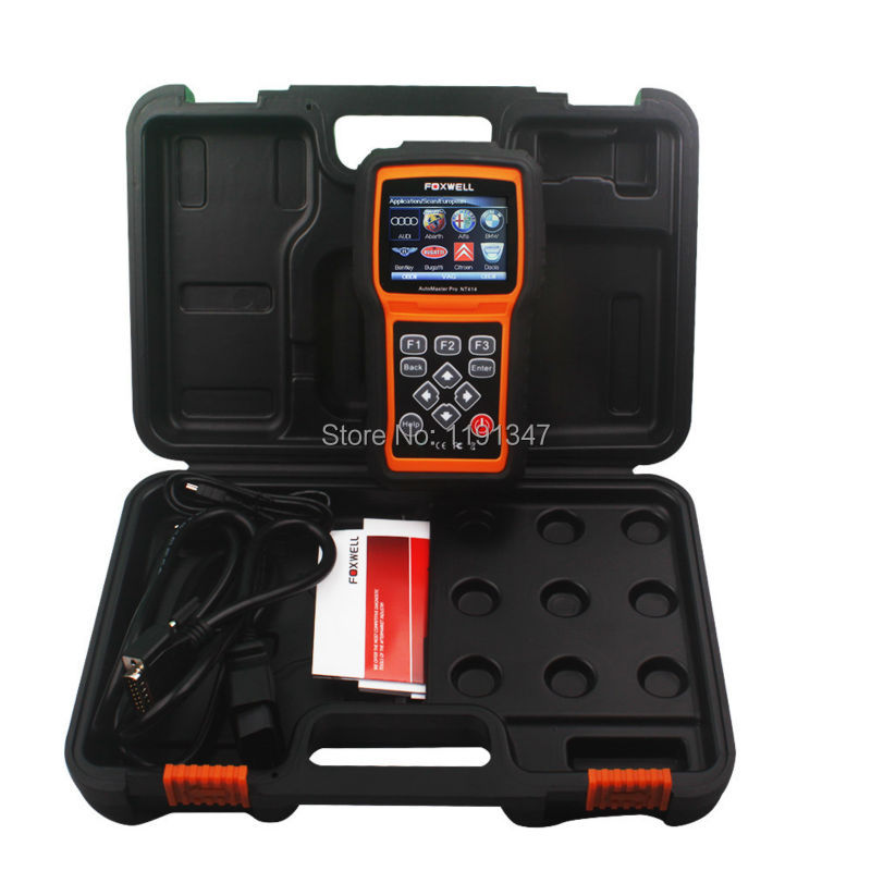 Foxwell NT414 All Makes Scan Tool NT414 Auto Diagnostic Scanner for Engine Transmission ABS Airbag Faults(China (Mainland))