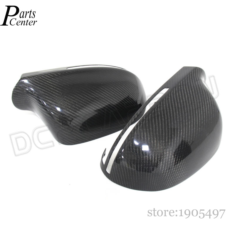 For Audi A4 A5 A6 Q3 Full Add on Style Carbon fiber mirror covers 2008 2009 2010 2011 2012 2013 2014 2015