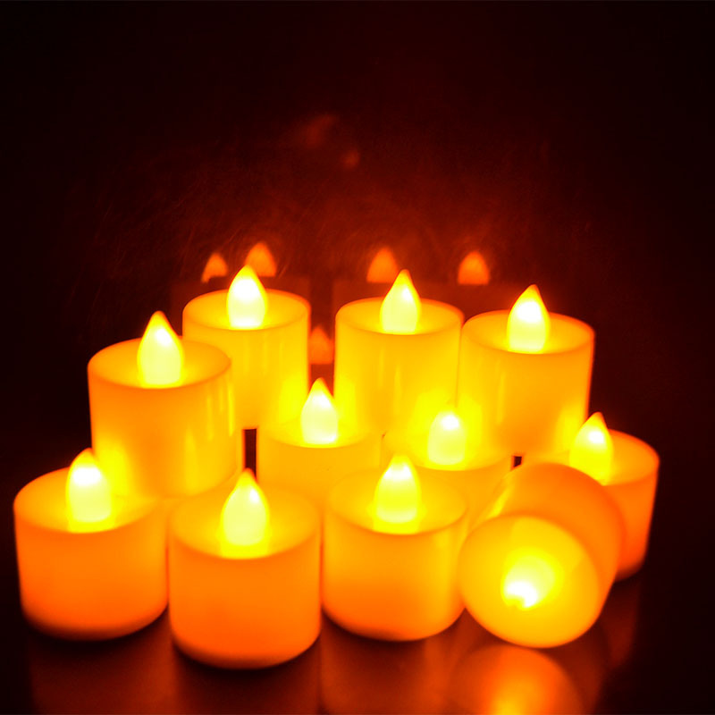 72pcs Led Flameless Tealight Candles Electric Led Yellow Candle Home Decor Operated Wedding