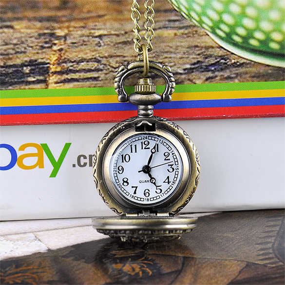 FANALA Vintage Dragonfly Hollow Style Quartz Pocket Watch Men Women Bronze Steampunk Necklace Pendant Gift Chain Clock $5K 36