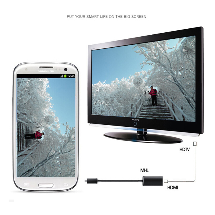 1080P MHL Micro USB 11 pin to HDMI Adapter Cable for Samsung Galaxy S3 S4 S5 Note 2 3(China (Mainland))