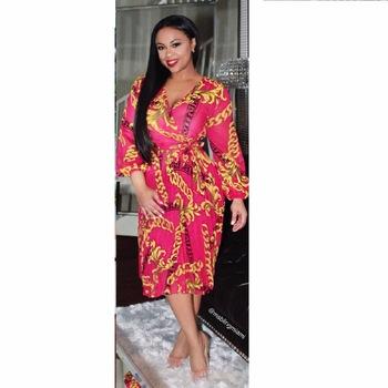 Chiffon Dashiki dress 2017Summer Sexy African Print Shirt Dresses Femme Vintage Midi hippie Plus Size Boho Women Casual Clothing