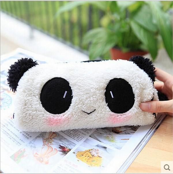 Гаджет  Kawaii panda school pen pencil bag pouch Cosmetics pouch bag case Coin purse wallet Office stationery supplies  None Офисные и Школьные принадлежности