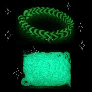 300 шт. светящийся материал, резинки для браслетов руки девушки сетки ткачество браслеты дети плетение ткачество