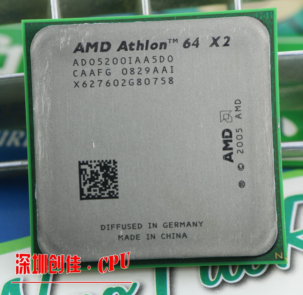 Free shipping for amd Athlon 64 x2 5200+ 2.7Ghz 1MB Cache AM2 socket 940 pin Dual core Desktop CPU processor scrattered pieces(China (Mainland))