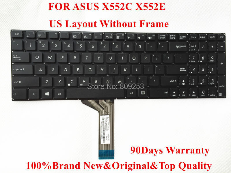 Original laptop keyboard  for ASUS X552 X552C X552E Keyboard US Layout 0KNB0-610EUS00 90days Warranty Fully tested