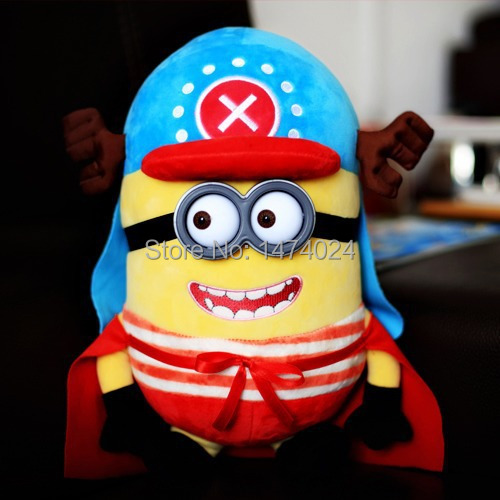 Плюшевая игрушка Minions Stuffed Plush Doll 3D Brinquedos 23 Trumpet Thief Daddy Toys fulljion baby stuffed plush animals elephant toys for children kawaii dolls infant sleeping back cushion stuffed pillow gifts