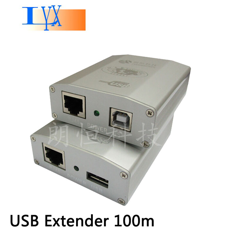 100m High Quality USB 2.0 Extender 300 feet USB to CAT RJ45 LAN UTP Cable Extendion USB Repeater with Power USB-1801H(China (Mainland))