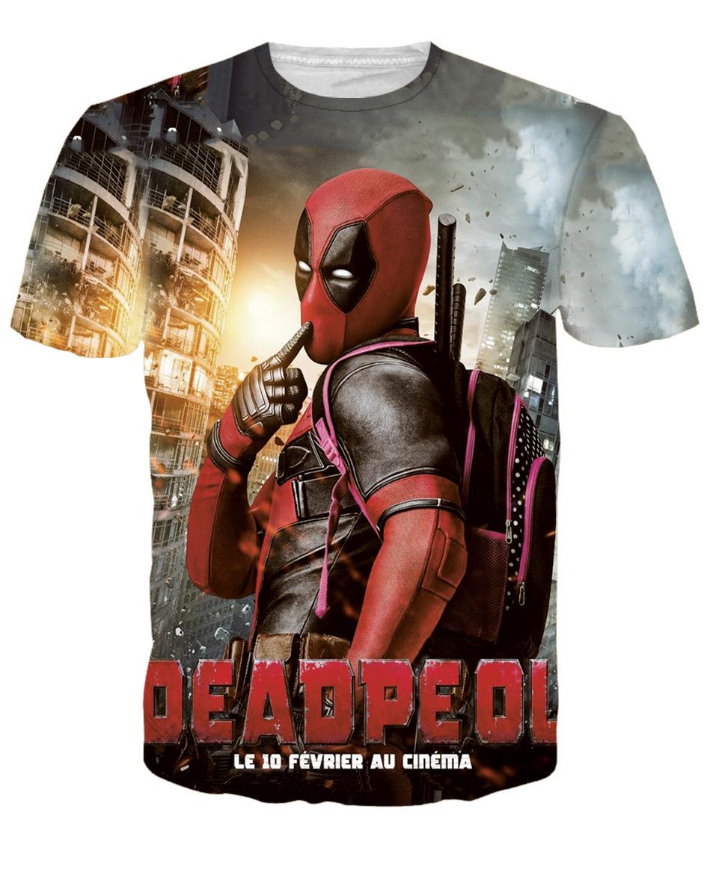2016 Brand Clothing Deadpool T Shirt Men American Comic Badass Anime Bape 3D T-Shirt Men Slim Fitness Hip Hop Tshirt Homme(China (Mainland))