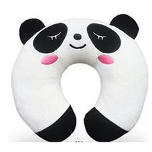 Panda Soft U Neck Rest Car Plane Office Business Travel Pillow with Velvety Cover Gift Healthy Life [1 PC White](China (Mainland))