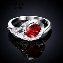 R025Fahsion Designer 925 sterling silver ring fashion ruby diamond Jewelry rings for women fine jewelry aneis bague femme bijoux