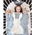 2016 Baby Blanket Cute Rabbit Knitted For Bed Sofa Cobertores Mantas BedSpread Bath Towels Play Mat