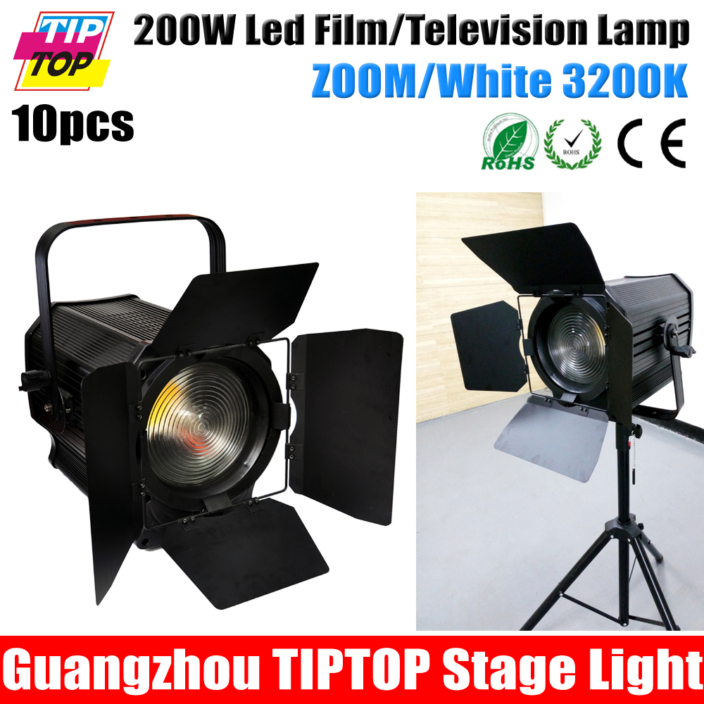 TIPTOP 200W APOLLO 200W White Studio Fresnel Film Lamp Barndoor Flicker Free Led COB Professional Theater Washer Light DMX 5/7CH(China (Mainland))