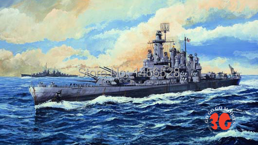 Trumpeter scale model 1/700 scale ship 05735 USS WASHINGTON BB-56 battleship assembly model kits Modle building scale battleship(China (Mainland))