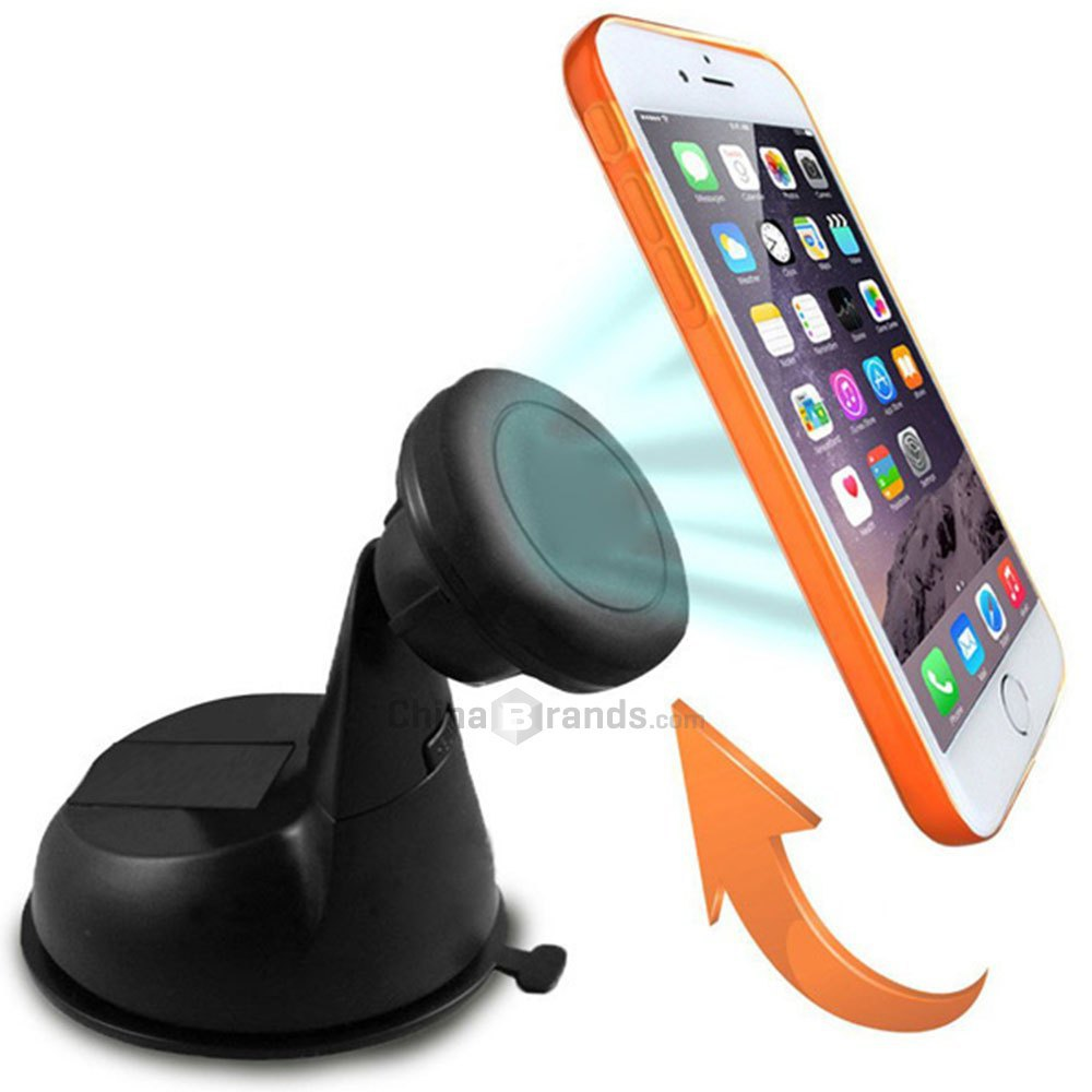 Excelvan 360 Degree Rotation Cradle-less Magnetic Car Windshield Dashboard Mount Holder for Smartphones / Mini Tablets / GPS(China (Mainland))