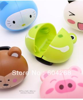 Free Shipping Animal cartoon animal cute holder toothbrush rack portable sucker suction holder 20pcs/Lot