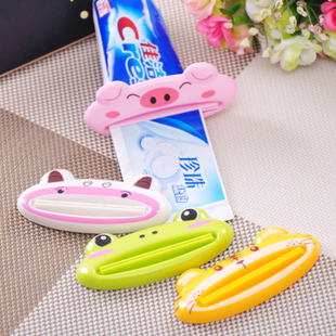 free shipping high quality ABS material candy color Cartoon Toothpaste Squeezer Toothpaste Tube Dispenser Dentifrice Extruder