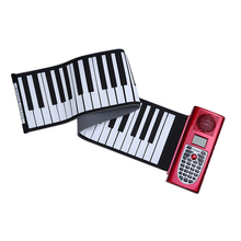 High Quality Portable 61 Standard Keys MIDI Roll Up Piano Soft Keyboard Piano with LCD Display Silicone Rubber Keyboard(China (Mainland))