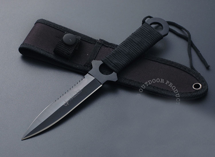 Haller Leggings Paratroopers Knife Stainless Steel Diving Straight knife Outdoor Survival Camping Pocket Knife Tactical Knife