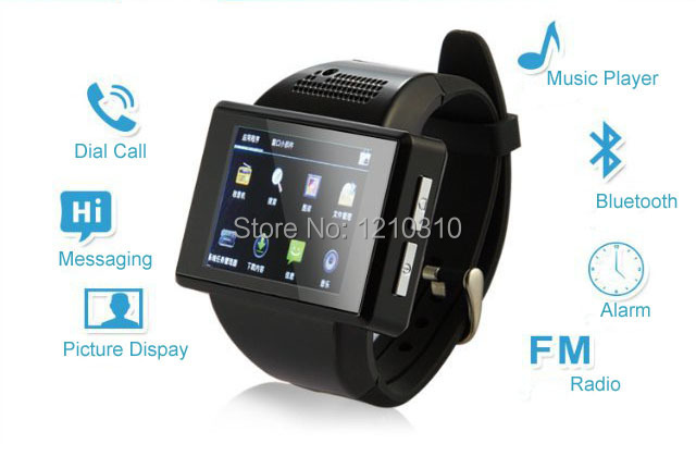 Android Smart Mobile Phone Watch An1 Quardband SIM/Touch Screen/Handwriting/MP3/MP4/FM Radio/GPS/WIFI/Handsfree/Camera/Messaging(China (Mainland))