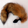 Fox Tail Silicone Anal Plug Adult Toys Sex toys For woman Anal Plug Tail Beads G