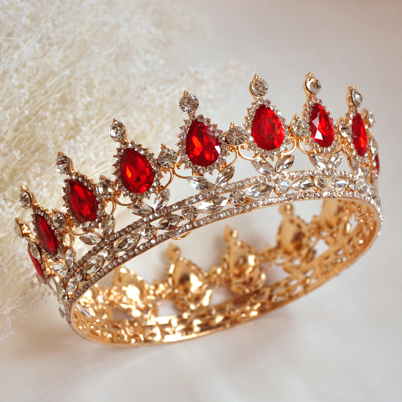 Wedding Bridal Bridesmaid Flower Girls 18K Gold Plated Crystal Quinceanera Royal Queens Kings Tiaras And Crowns Pageant Headband(China (Mainland))