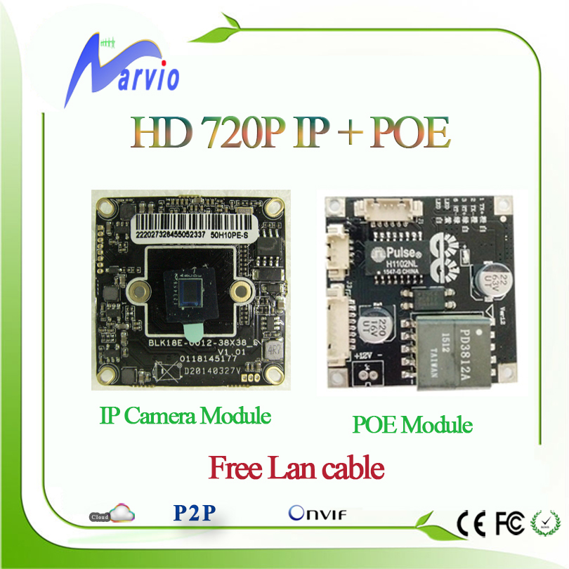1MP Million Pixel 720P High Definition Security CCTV IP cameras and POE Modules DIY Your IP POE Camara System IEEE802.3af(China (Mainland))