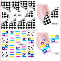 к 2015 году новых прибывают ногтей наклейки моды 3d водяной лист 9 типов diy ногтей пропуск воды передачи ногтей