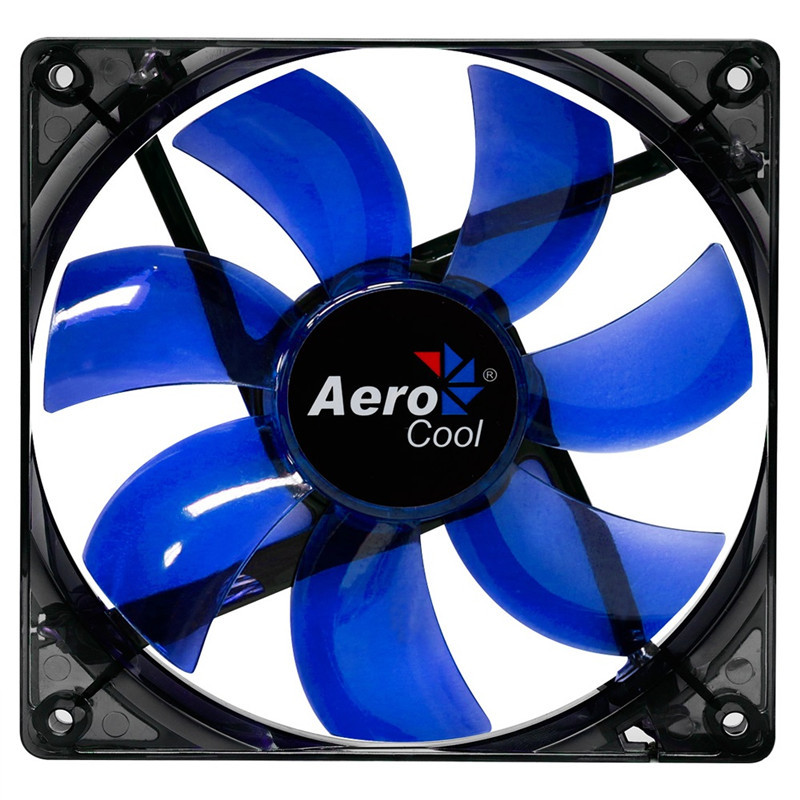 Brand New Aerocool Lightning 120mm Case Cooling Fan Blue LED Fan With 3 Pin & 4 Pin For Computer PC Case Cooling Free Shipping(China (Mainland))