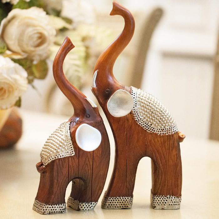 Animal resin crafts lovers crafts living room decoration for Decoration elephant