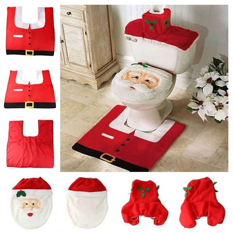 partij hete mooie santa toilet seat cover en tapijt badkamer tapijt ...