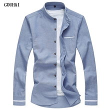Buy M-7XL Oxford Shirts Men Stand Collar Designer Mens Shirts Patterns Mens Dress Shirts Slim Fit Social Tuxedo Male Shirts for $13.74 in AliExpress store