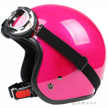 """Free Shipping ! Taiwan """" SYC """" Scooter Casco Open Face Motorcycle Solid Color Helmet & UV Goggles & Visor Adult -- 16 Colors(China (Mainland))"""