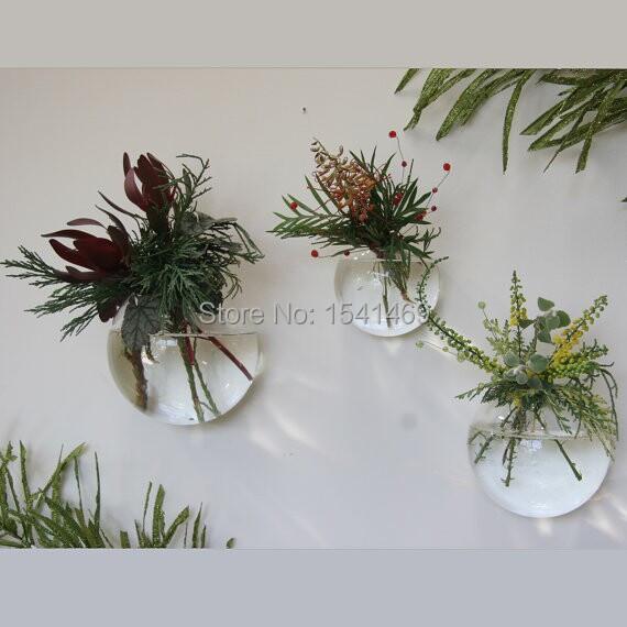 3pcs 10cm Handmade hanging glass vase, Succulents plant vase,round transparent hydroponic vase, wedding supplies(China (Mainland))