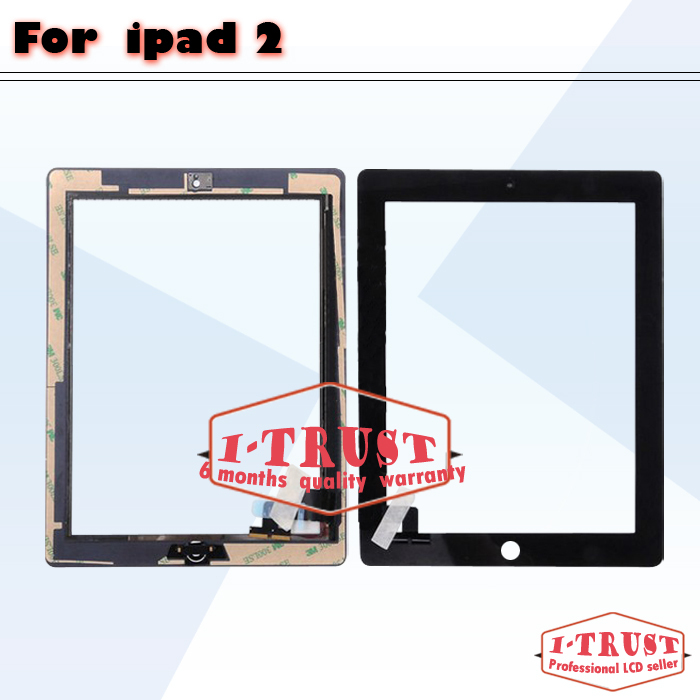50 pcs lot touch screen Glass replacement digitizer for iPad 2 ipad2 digitizer panel touch screen Free Shipping(China (Mainland))