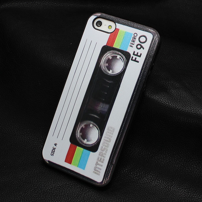 1pcs Hot Sale New Arrive personality retro old tape photo back cover case for Iphone 4 4S 5 5s Promotion Painted(China (Mainland))