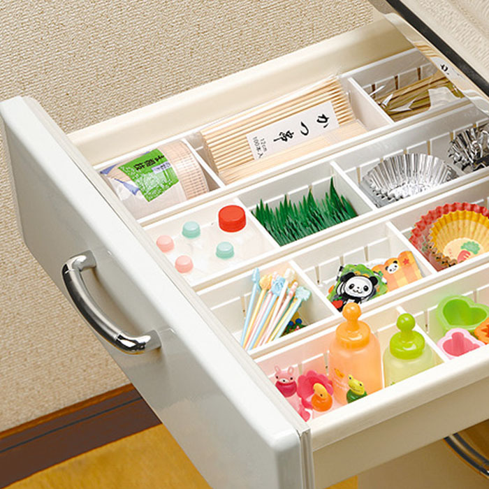Small Size Kitchen Utensil Cutlery Drawer Cabinet Storage Box Freedom Separated Sundries Organizer White/Clear Free Shipping(China (Mainland))