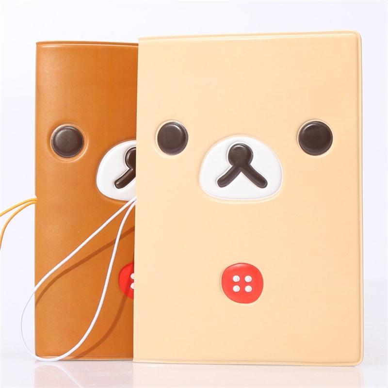 Cartoon Cute Rilakkuma 3D Travel Passport Cover,Business Porte Carte Simple,14*9.6CM ID Card Bag,PVC Leather Credit Card Holder(China (Mainland))