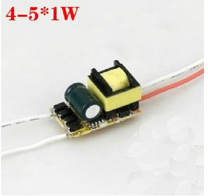 4-5x1w drive power led drive power e27 built-in power supply 5w cup bulb power supply 50pcs/lot wholesales(China (Mainland))
