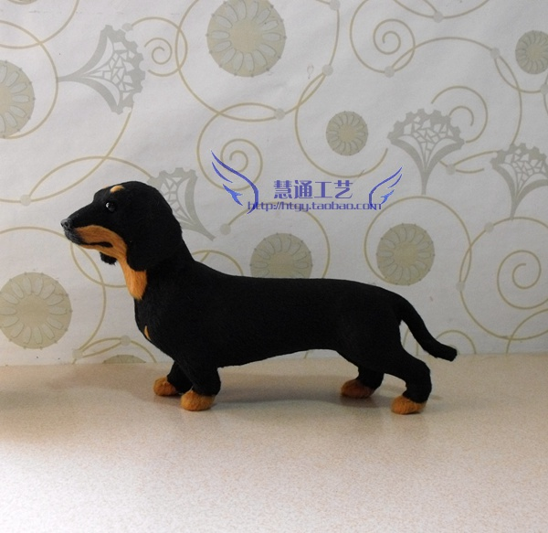 Free Shipping Lovely DOG dachshund Stuffed Plush Animal Toy animals Pet dachshund High Quality Cheap Sale Dollhouse car(China (Mainland))