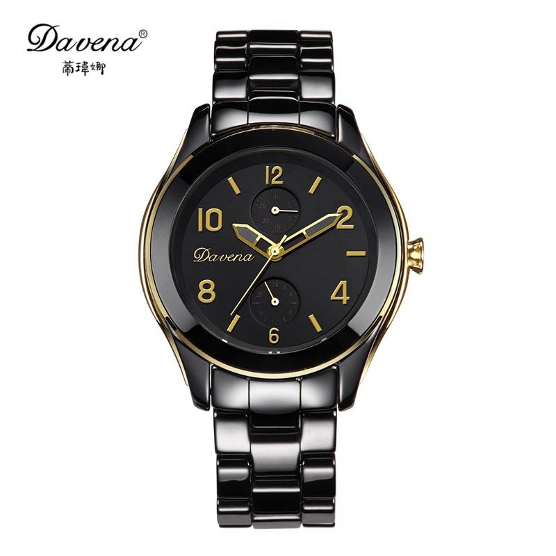 2015 Women luxury high quality ceramic wristwatch female Arabic digital watches fashion Needle luminous watch Davena 60939 clock<br><br>Aliexpress